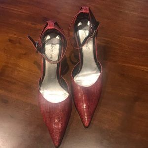 Nine West Red Pointed Heels Size 10